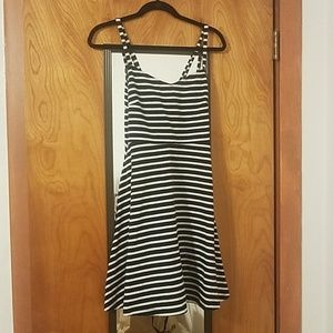 Blue/white striped Sundress